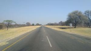 The road to Botswana