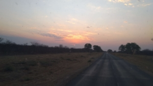 On the road to Botswana