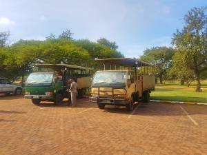 Open game drive vehicles