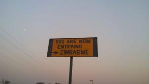 Entering beautiful Zimbabwe