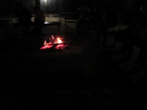 Camp fire boma Marcs Camp