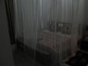 Mosquito netting over bed Tremisana Lodge
