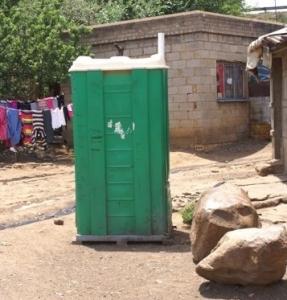 Shanty town portable toilet