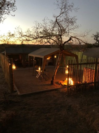 Manyeleti camp fire