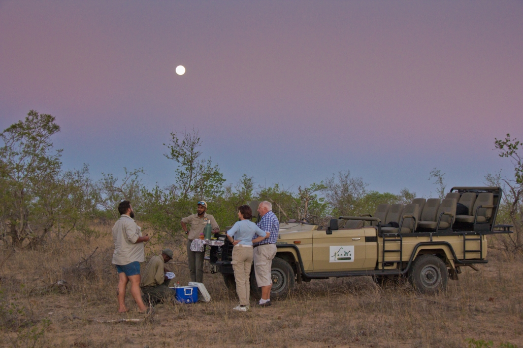 sundowners on game drive
