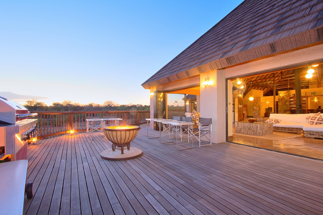deck overlooking waterhole